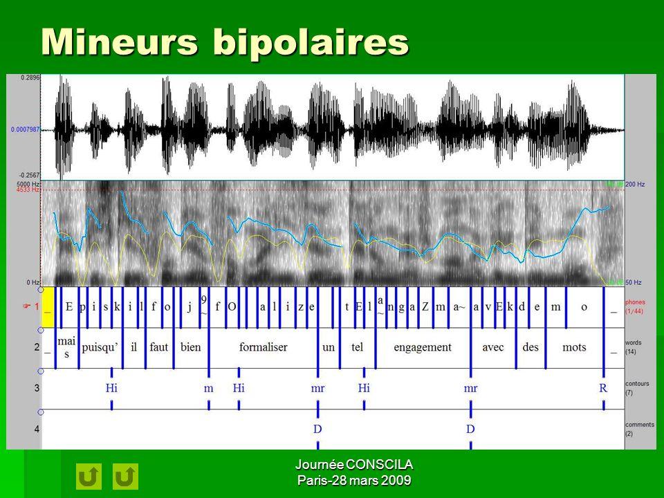 Mineurs bipolaires Journée CONSCILA Paris-28 mars 2009