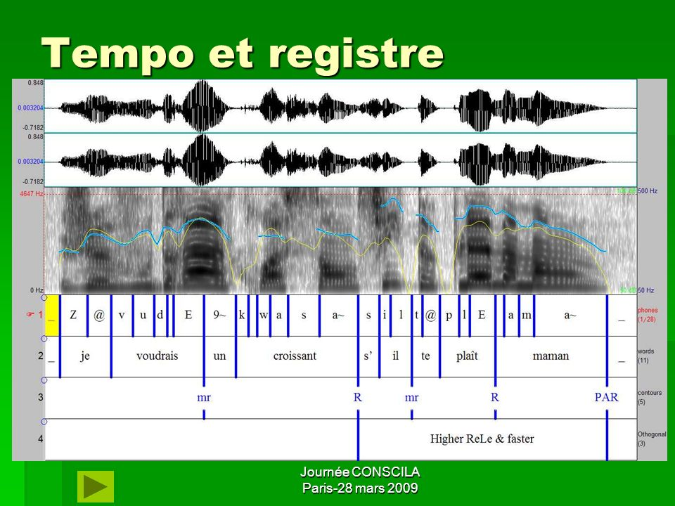 Tempo et registre Journée CONSCILA Paris-28 mars 2009