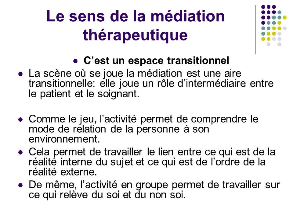 Le sens de la médiation thérapeutique