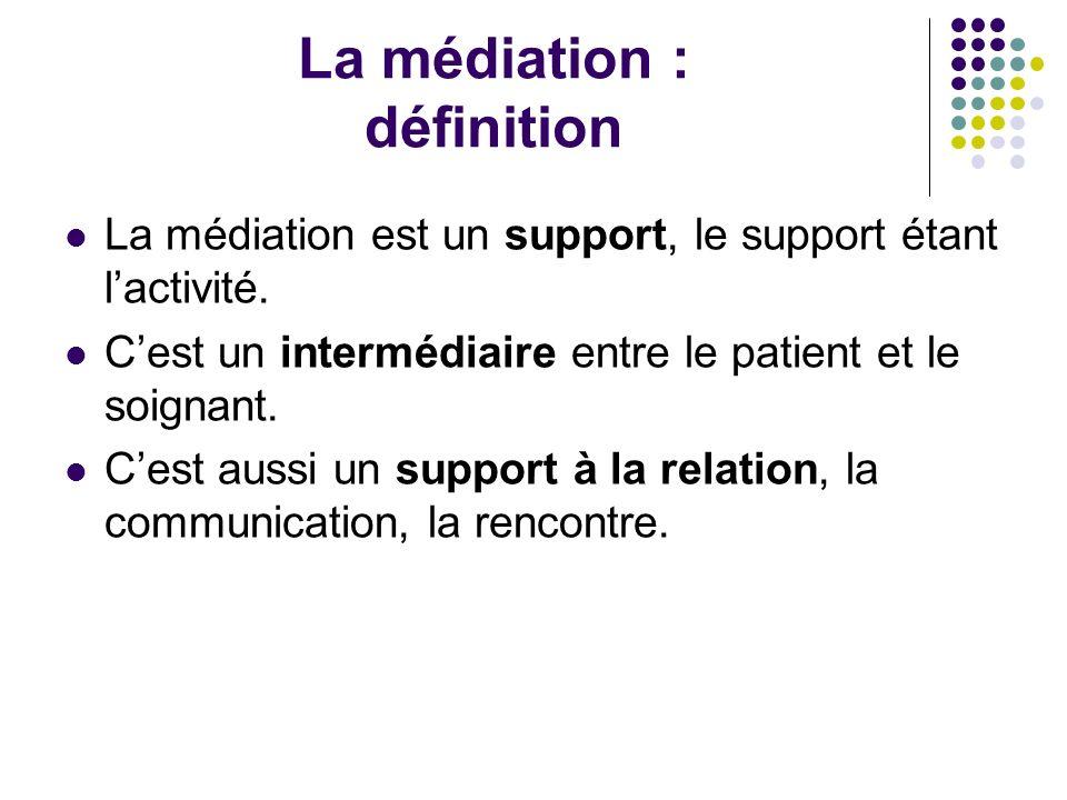 La médiation : définition