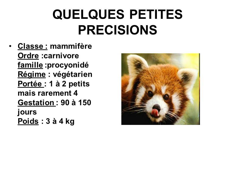 QUELQUES PETITES PRECISIONS