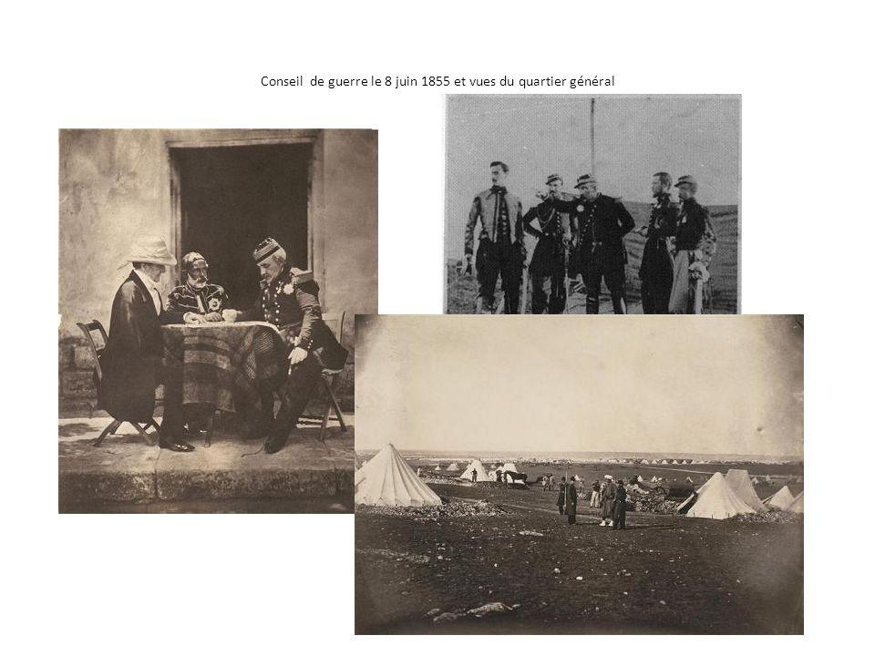 Conseil de guerre le 8 juin 1855 et vues du quartier général