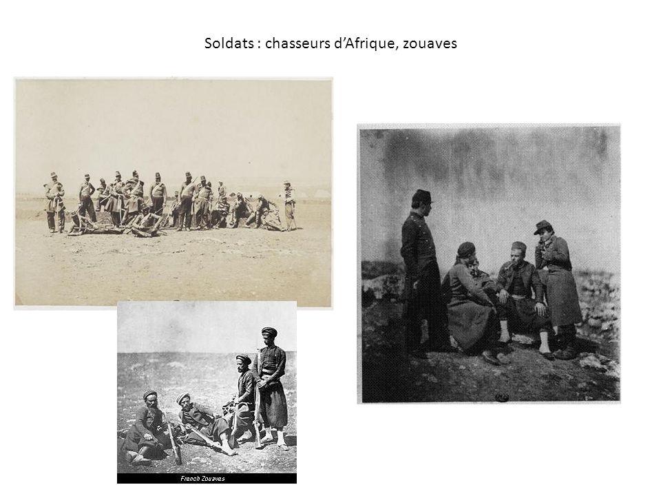 Soldats : chasseurs d'Afrique, zouaves