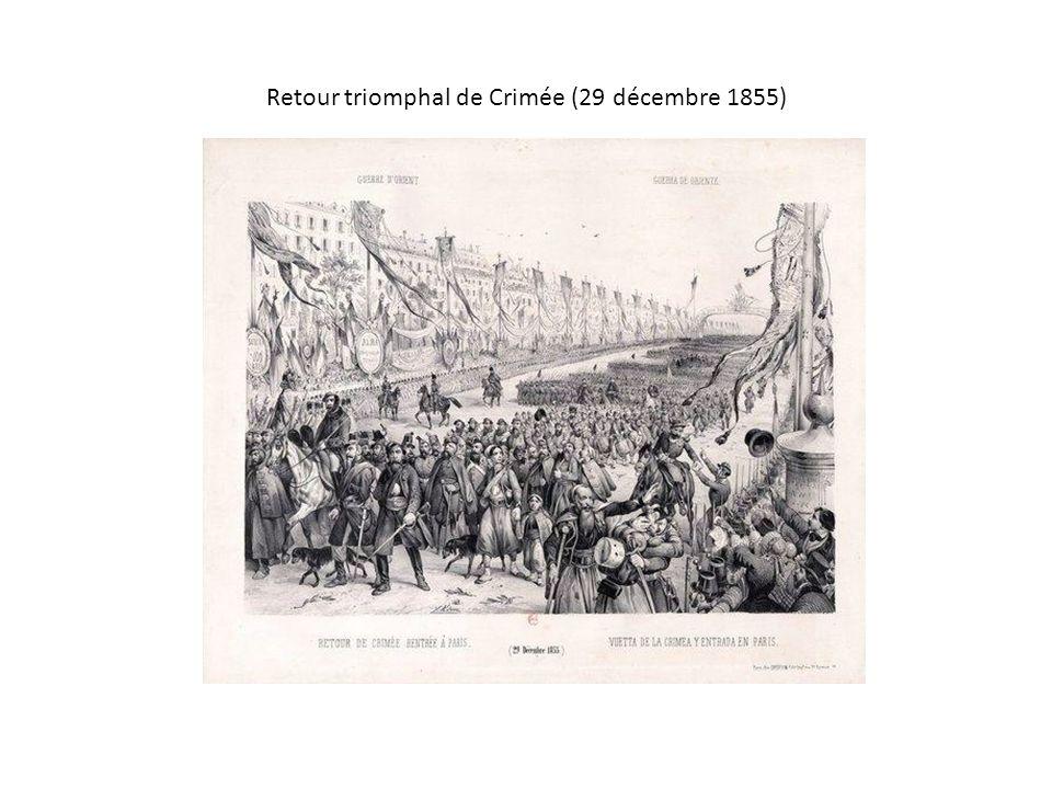 Retour triomphal de Crimée (29 décembre 1855)