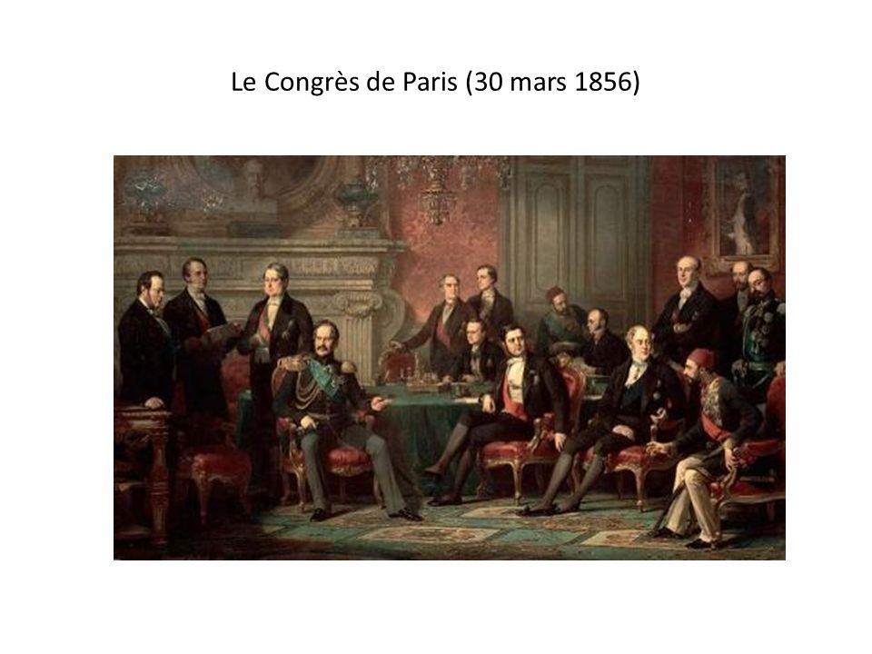 Le Congrès de Paris (30 mars 1856)