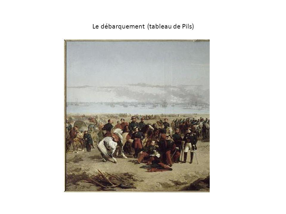 Le débarquement (tableau de Pils)