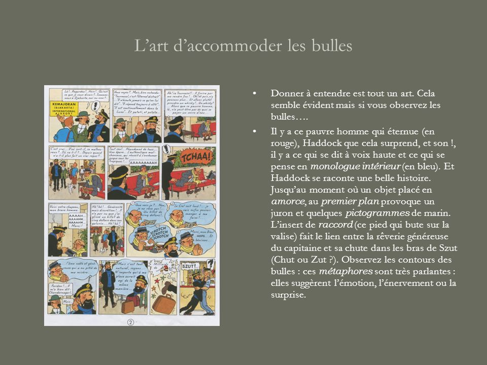 L'art d'accommoder les bulles