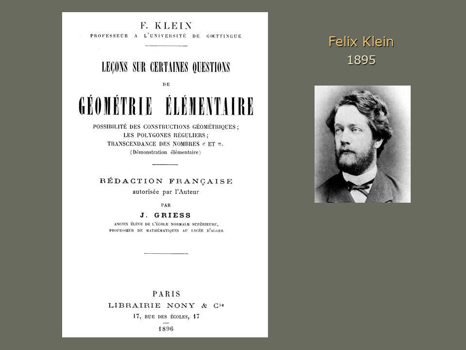 Felix Klein 1895