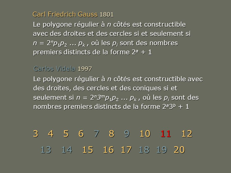 Carl Friedrich Gauss 1801