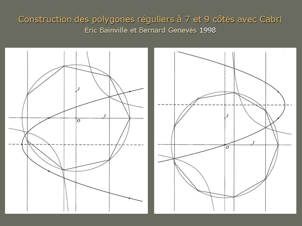 Construction des polygones réguliers à 7 et 9 côtés avec Cabri