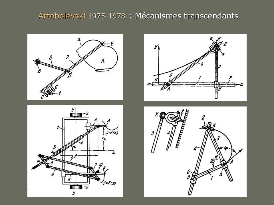 Artobolevski 1975-1978 : Mécanismes transcendants