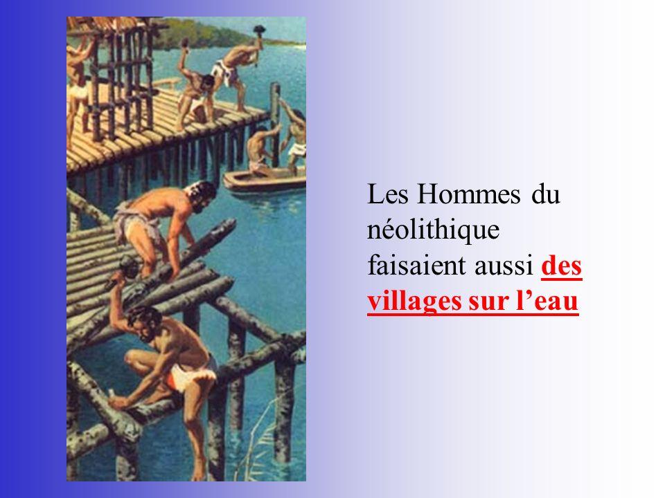Les Hommes du néolithique faisaient aussi des villages sur l'eau