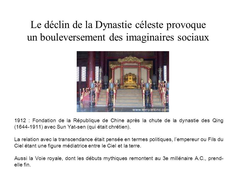 Le déclin de la Dynastie céleste provoque un bouleversement des imaginaires sociaux