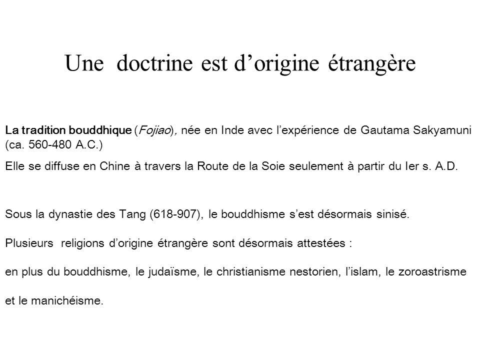 Une doctrine est d'origine étrangère