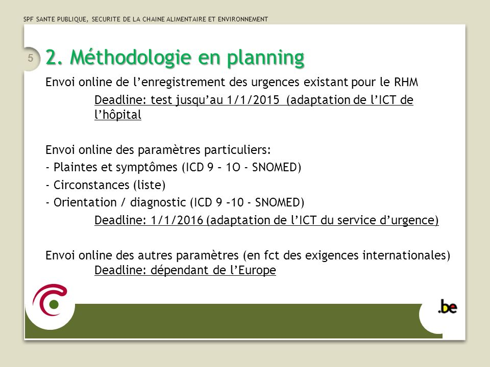 2. Méthodologie en planning
