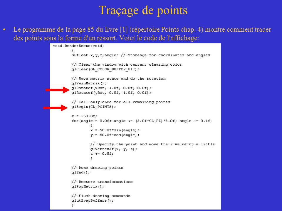Traçage de points