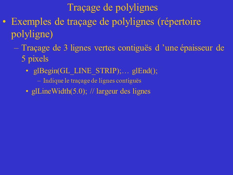 Exemples de traçage de polylignes (répertoire polyligne)