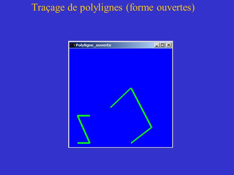 Traçage de polylignes (forme ouvertes)