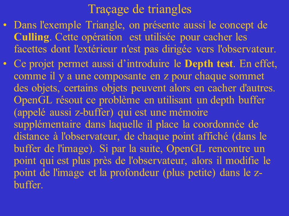 Traçage de triangles