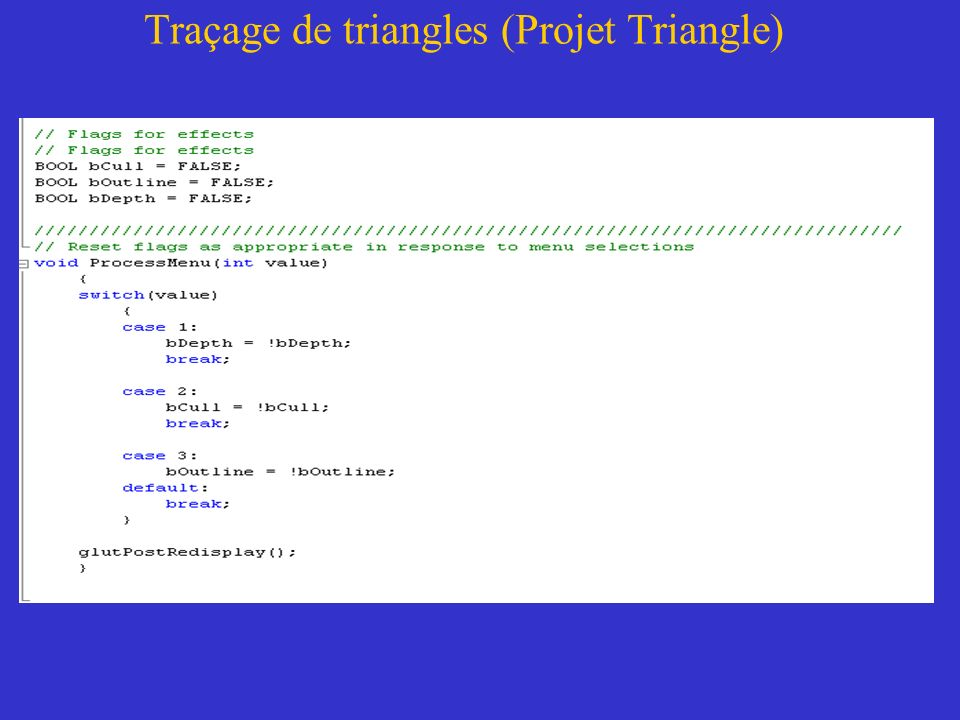 Traçage de triangles (Projet Triangle)