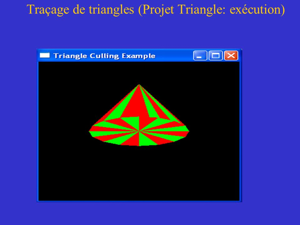 Traçage de triangles (Projet Triangle: exécution)