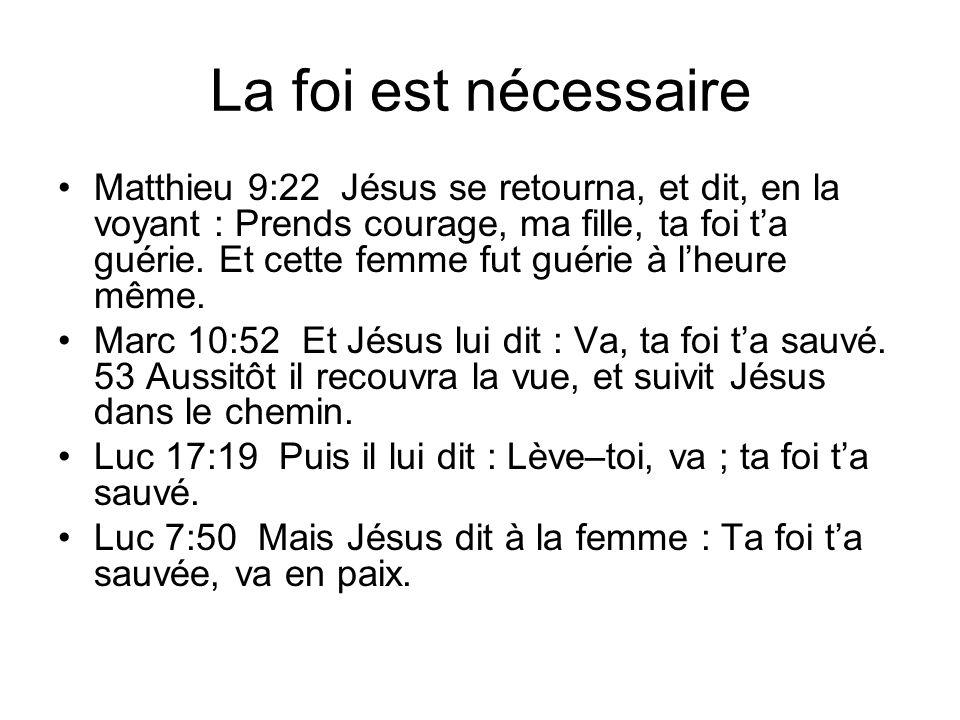 La foi est nécessaire
