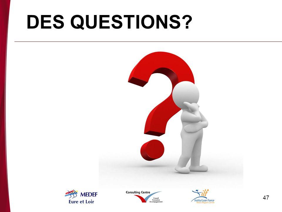 DES QUESTIONS Quelles sont vos questions