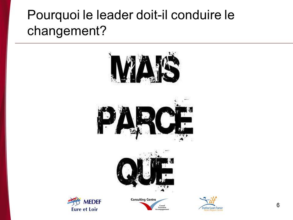 Pourquoi le leader doit-il conduire le changement