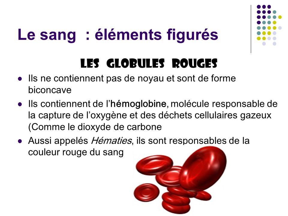 Le sang : éléments figurés