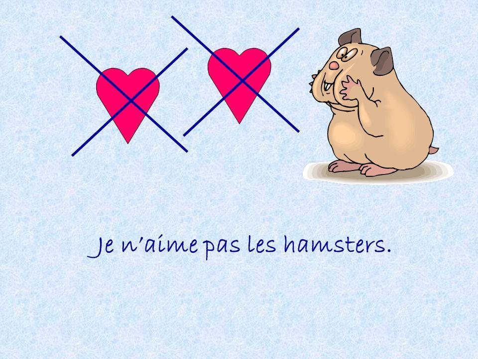 Je n'aime pas les hamsters.