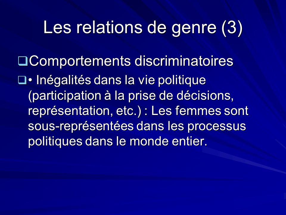 Les relations de genre (3)