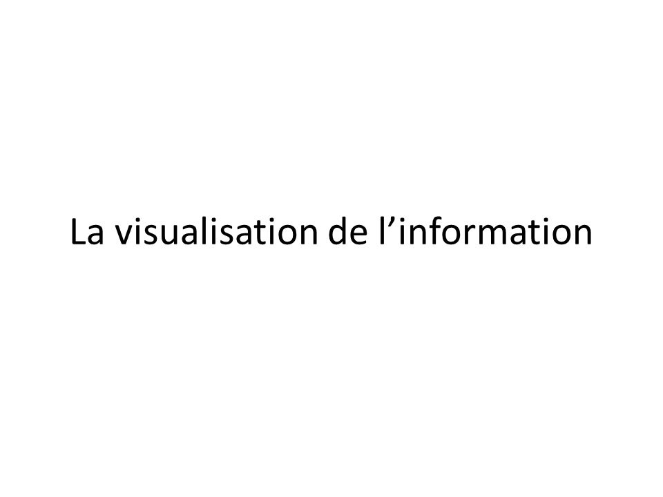La visualisation de l'information