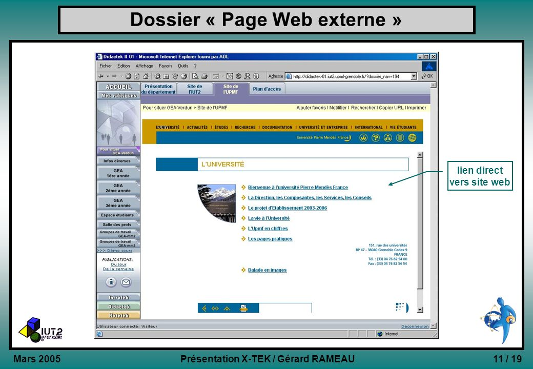 Dossier « Page Web externe »