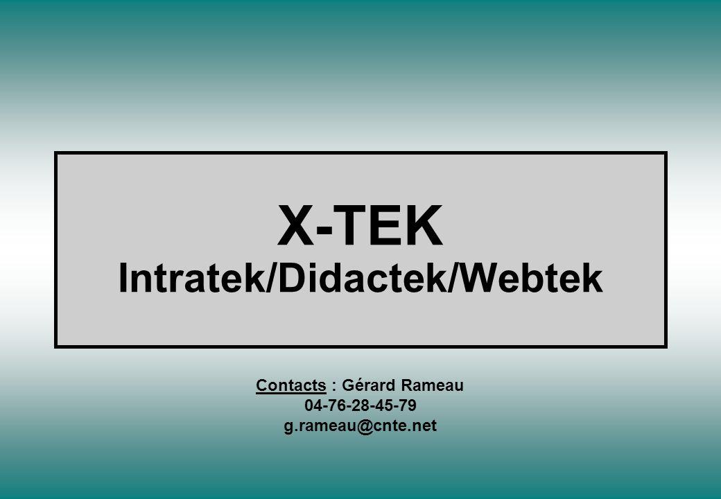 X-TEK Intratek/Didactek/Webtek