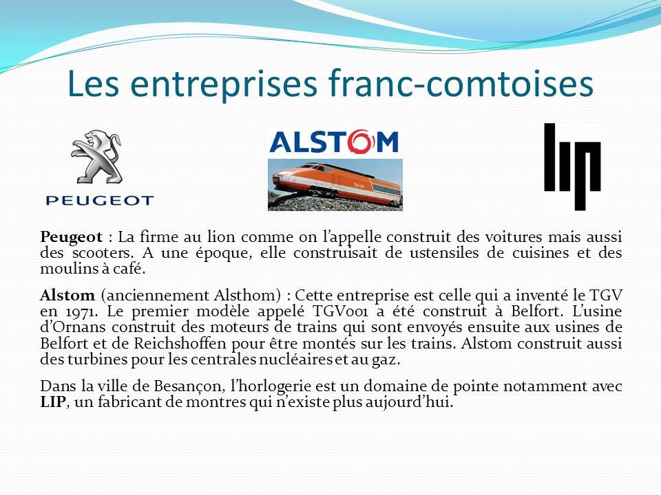 Les entreprises franc-comtoises