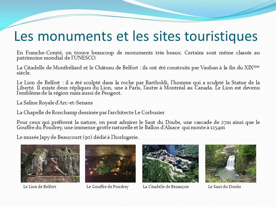 Les monuments et les sites touristiques