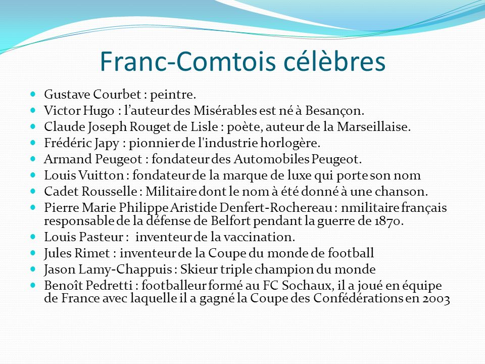 Franc-Comtois célèbres