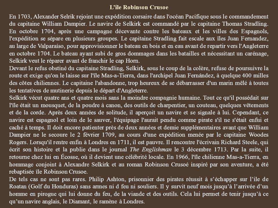 L'île Robinson Crusoe