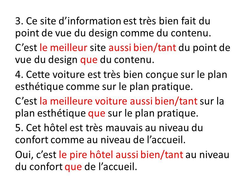 3. Ce site d'information est très bien fait du point de vue du design comme du contenu.