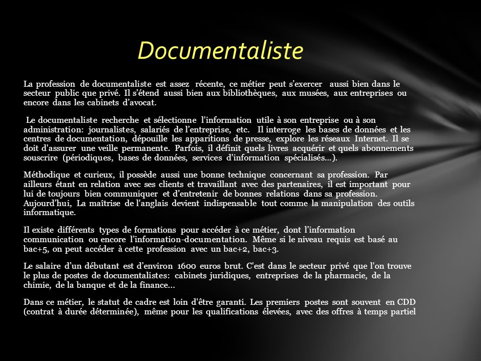 Documentaliste