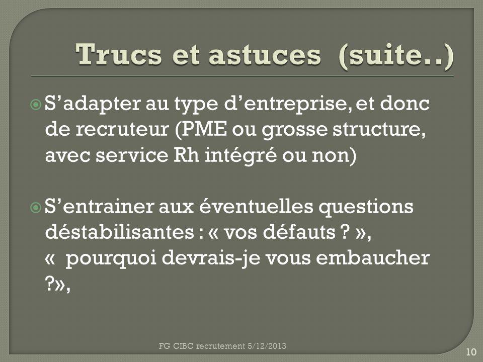 Trucs et astuces (suite..)