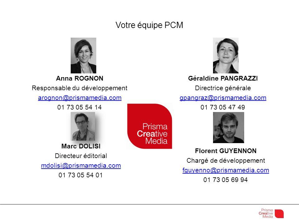 Votre équipe PCM Anna ROGNON Responsable du développement