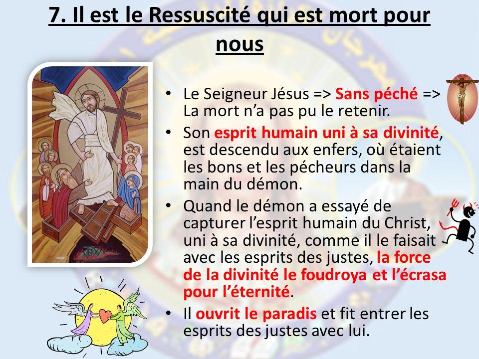 7. Il est le Ressuscité qui est mort pour nous