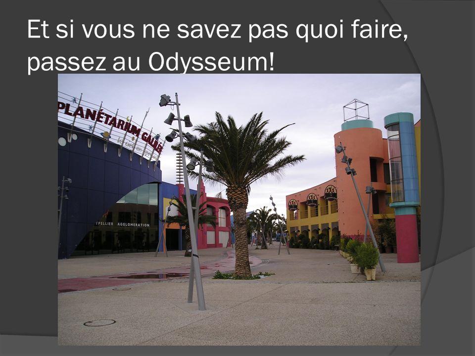 Et si vous ne savez pas quoi faire, passez au Odysseum!