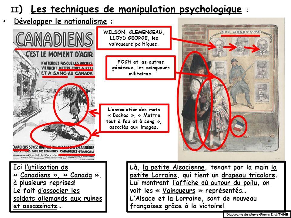 II) Les techniques de manipulation psychologique :