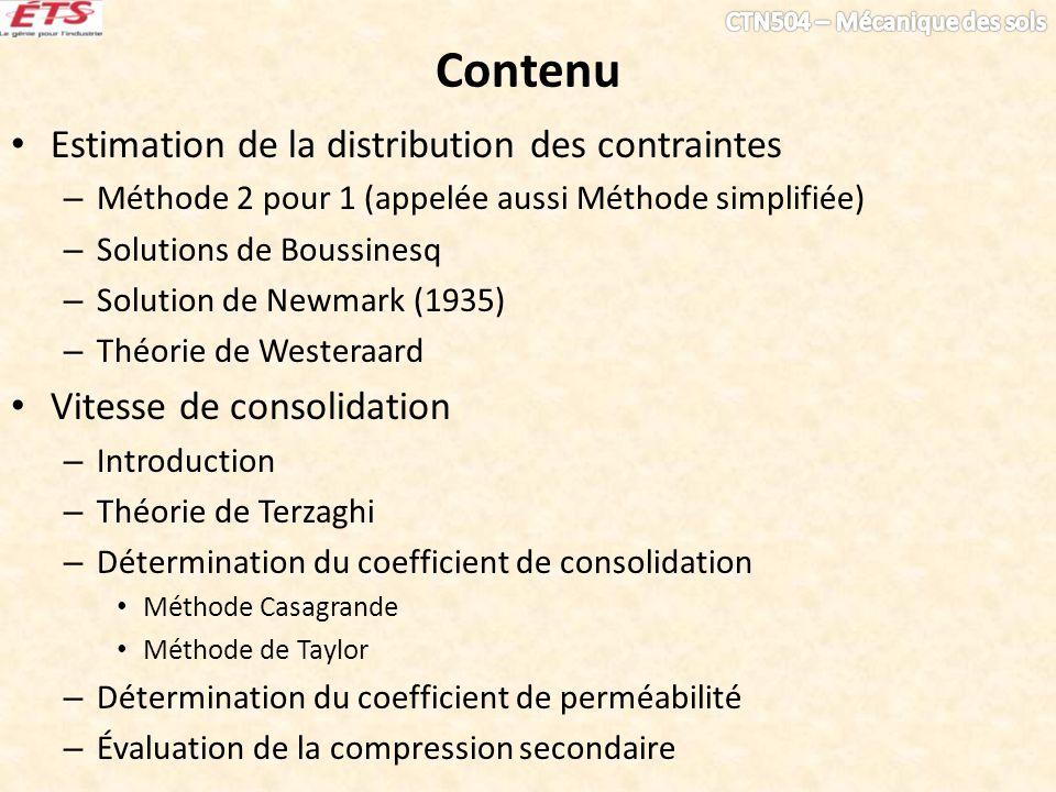 Contenu Estimation de la distribution des contraintes