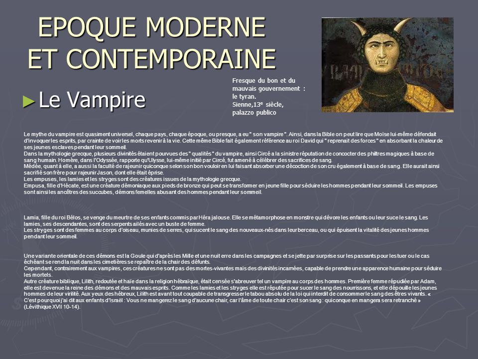 EPOQUE MODERNE ET CONTEMPORAINE