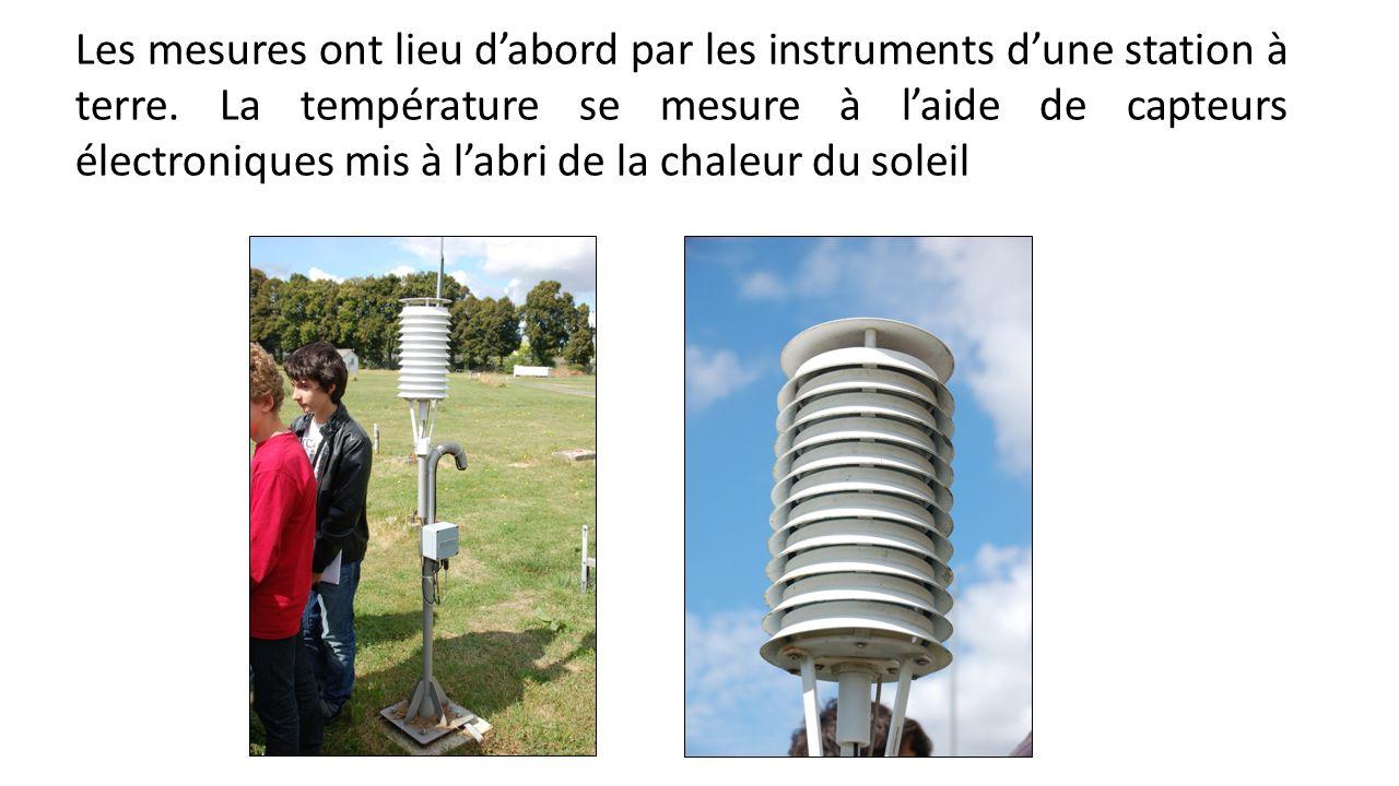Les mesures ont lieu d'abord par les instruments d'une station à terre