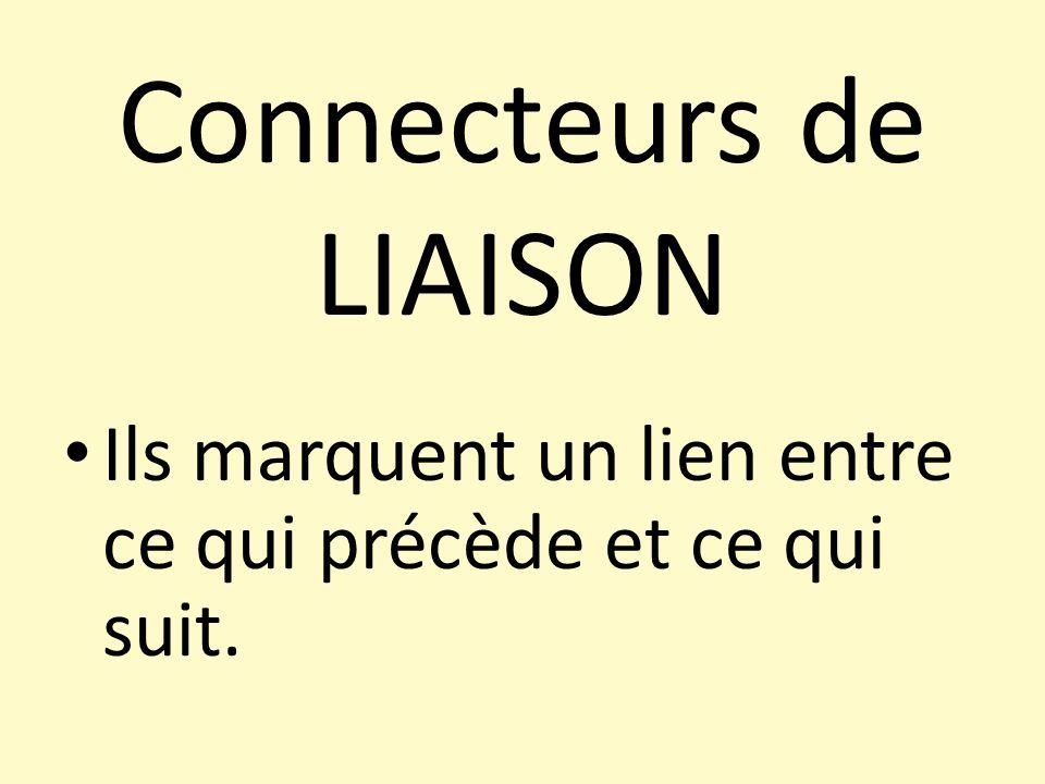 Connecteurs de LIAISON