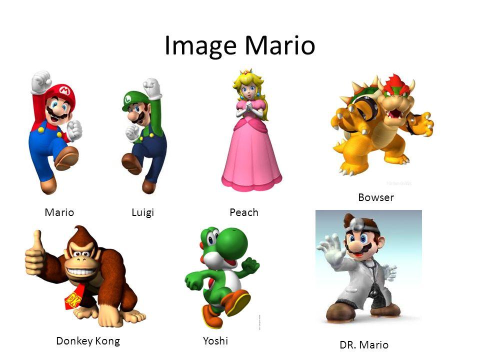 Image Mario Bowser Mario Luigi Peach Donkey Kong Yoshi DR. Mario